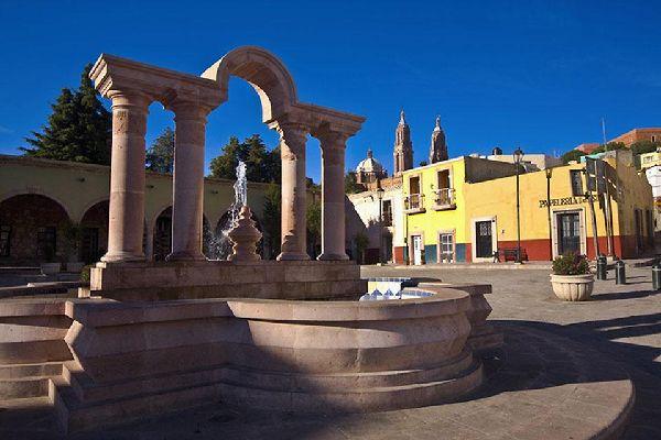 Le centre de Zacatecas est entouré de la cathédrale et du palais du gouverneur.