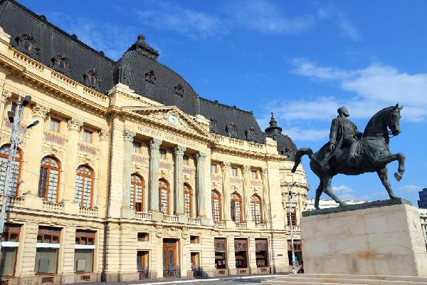 Located in the city centre, Revolution Square is surrounded by numerous historic buildings.