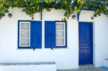 A harmony of blues and whites in Serifos, Greece
