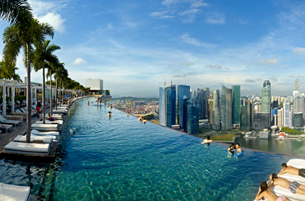 Singapour h tel marina bay sands les dix plus hauts for Singapour marina bay sands piscine