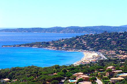 Plage de la Nartelle à Sainte-Maxime