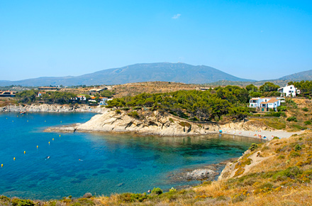 Il mare catalano visto dalla baia di Cadaques