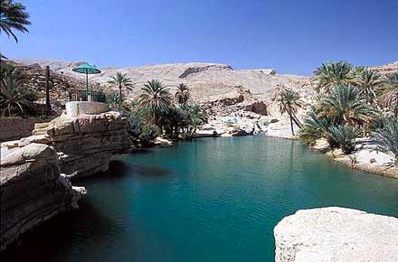 Un'oasi nel deserto in Oman