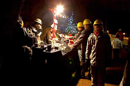 Weihnachtsmarkt unter Tage in Porta Westfalica