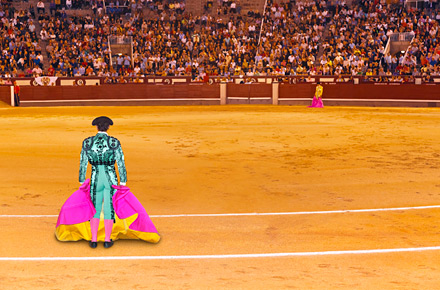 A bullfighting ring