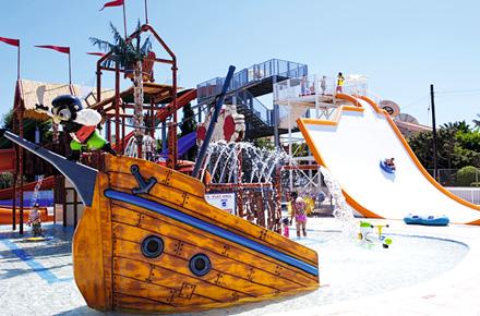 Parc aquatiques et sites antiques vacances en h tel club for Piscine ile de france avec toboggan