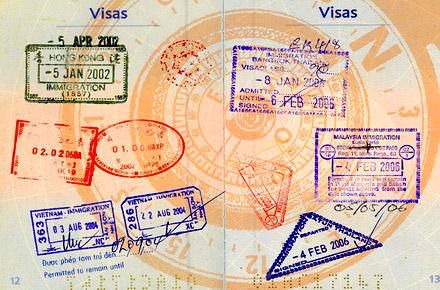 Passports, visas and insurance