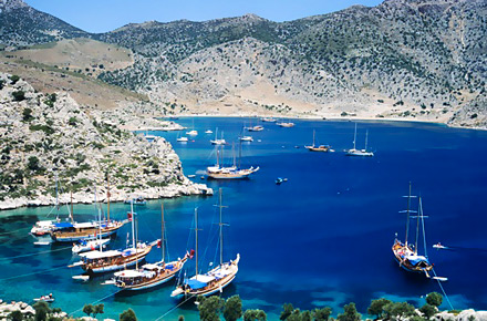 La côte turque en caïque