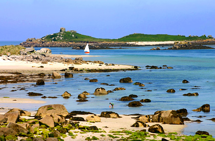 Winter sun in Tresco, Isles of Scilly, England
