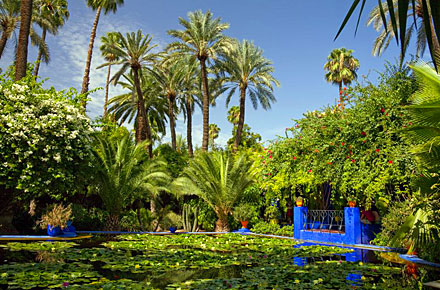 le jardin majorelle marrakech 10 jardins extraordinaires autour du monde. Black Bedroom Furniture Sets. Home Design Ideas