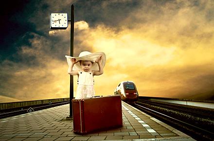 Wenn Kinder Bahn fahren