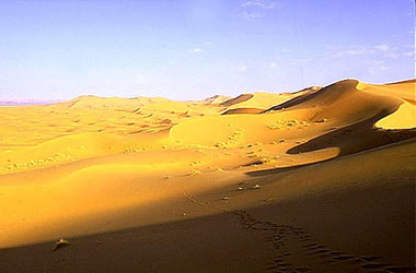 The eastern extremity of the Sahara