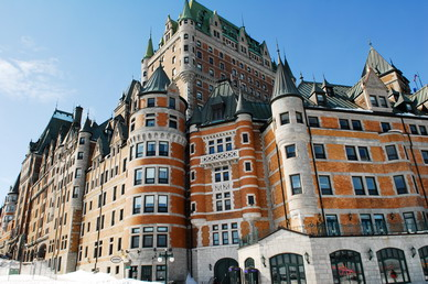 The most photographed: Le Chateau Frontenac, Quebec, Canada