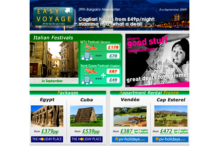Subscribe to a travel newsletter