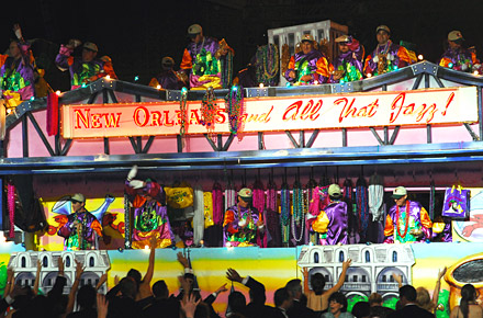 Mardi Gras zelebrieren in New Orleans