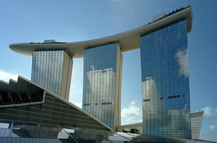 Marina Bay Sands Singapur - ein einmaliges 360-Grad-Panorama