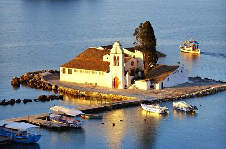 Greek island life in Corfu