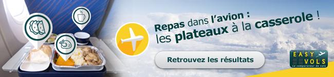 Sondage easyvols : les repas en avion